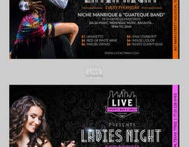 nº 28 pour Flyer for Bar Latin Night & Ladies night par zhoocka