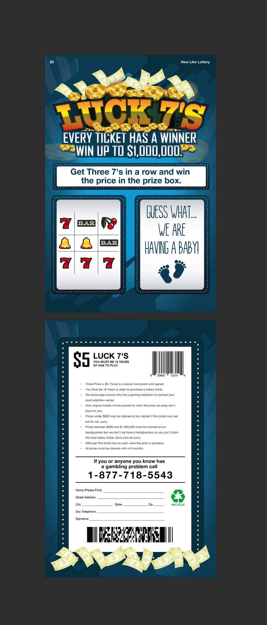 Proposition n°30 du concours Designing a Lotto Ticket