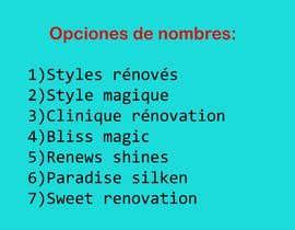 Nro 14 kilpailuun Nombre para clinica de medicina estetica e impkante capilar käyttäjältä andreaospina36