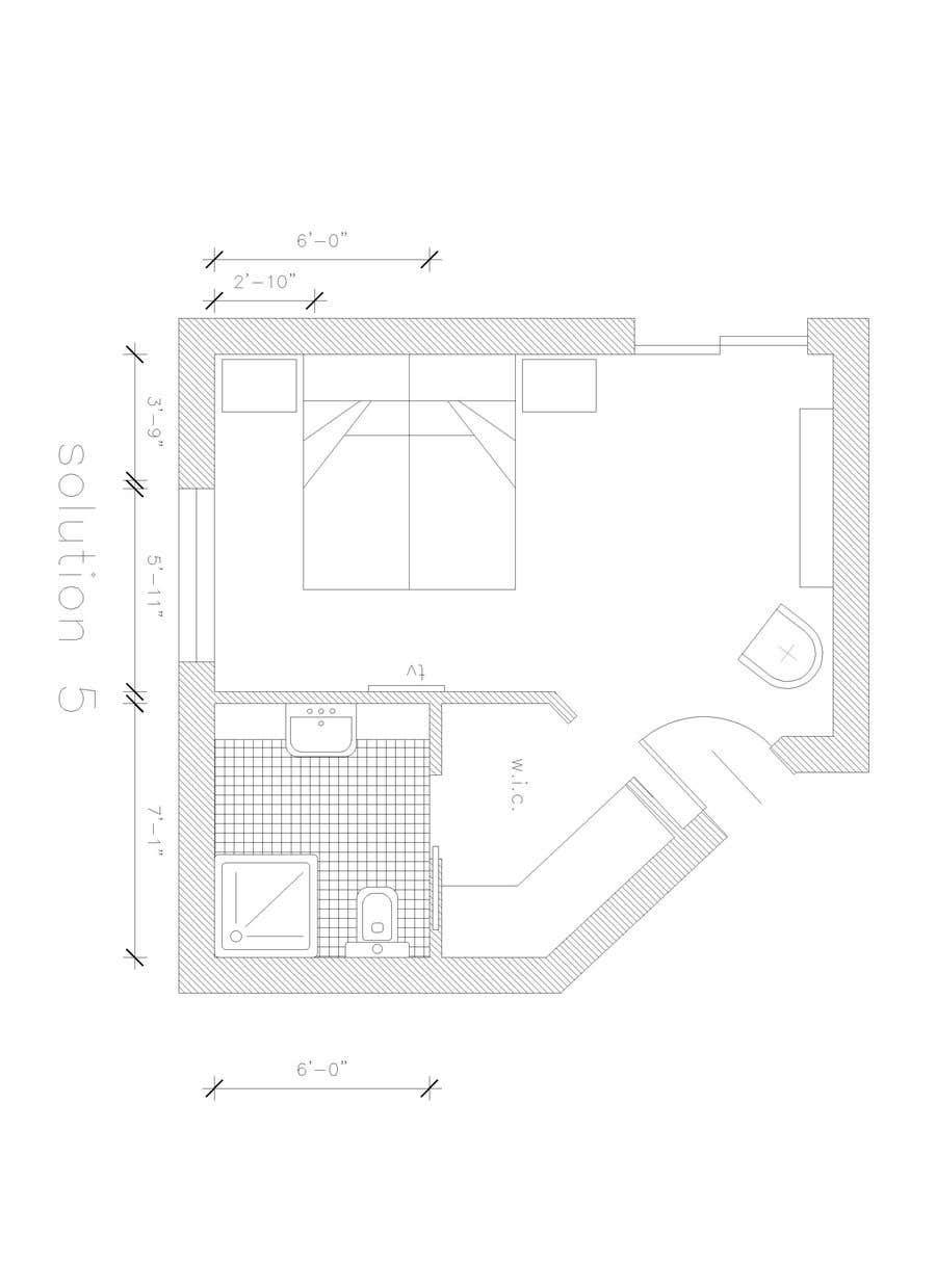 Konkurrenceindlæg #15 for Master bedroom reconfiguration to add ensuite