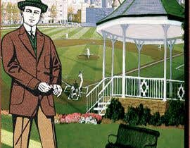 """Nro 25 kilpailuun I need a illustration for a musical production called """" Dear Mr Mayor"""". The gazebo being the main focus and the baseball field in the background with a gruff looking Mayor in the front left. käyttäjältä moshiur1995"""