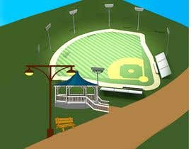"""Nro 10 kilpailuun I need a illustration for a musical production called """" Dear Mr Mayor"""". The gazebo being the main focus and the baseball field in the background with a gruff looking Mayor in the front left. käyttäjältä akhlas07"""