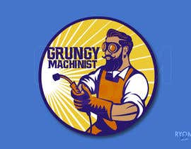 #55 for Grungy Machinist Logo by ryomboxstudio