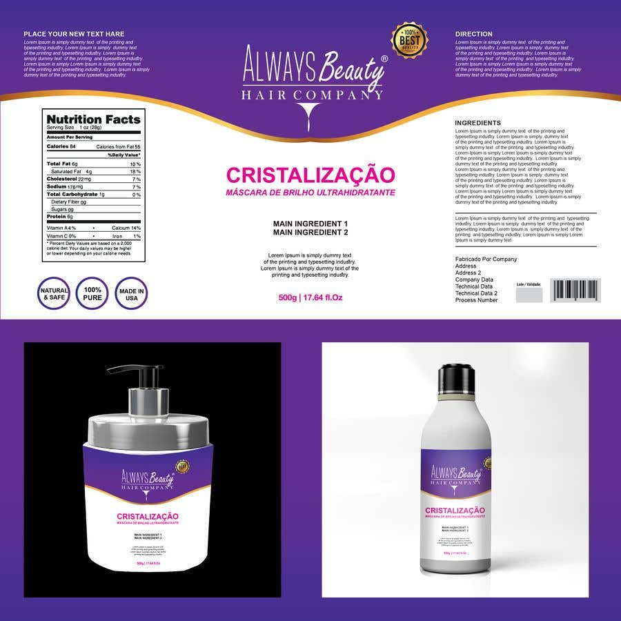 Proposition n°28 du concours LABEL for pack (hair cosmetic products)