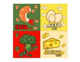 #4 для Pack of 10 Keto Diet Themed Stickers от kentoenk302
