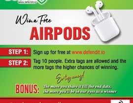 Nro 10 kilpailuun Promotional banner for giveaway käyttäjältä reggydesign