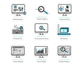 #25 untuk Design 8 Modern and Simple Icons for Our New Website oleh awais7322