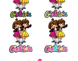 nº 35 pour Cartoon illustration of 2 girls for a logo par akward13