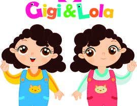 nº 30 pour Cartoon illustration of 2 girls for a logo par olgarguello85