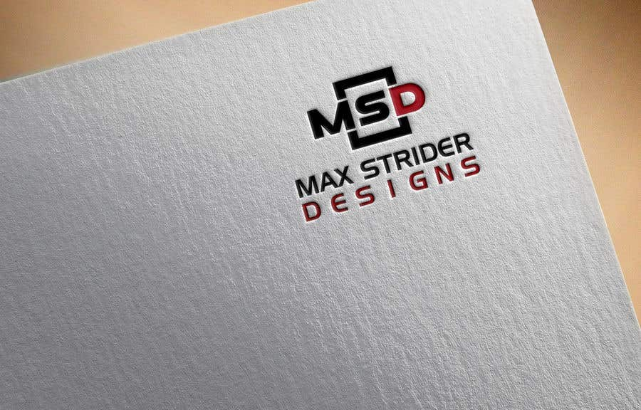 Inscrição nº 4 do Concurso para I require a logo designed for a company called Max Strider Designs. We produce high end hand crafted products. Vector png and JPEG formats. Thank you.