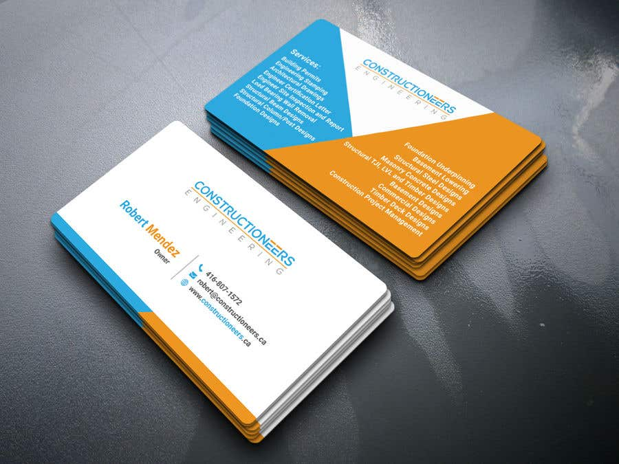 Kilpailutyö #83 kilpailussa Business Card Design for a Residential Engineering Company