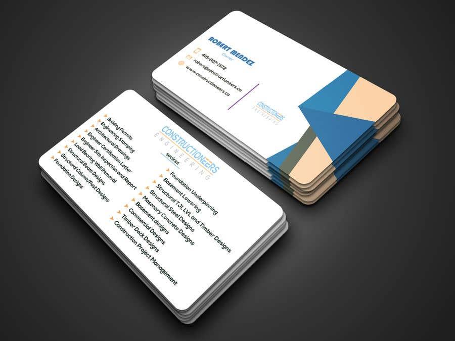 Kilpailutyö #109 kilpailussa Business Card Design for a Residential Engineering Company