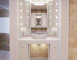 nº 19 pour design an a makeup dressing table with led lights and storage par JohanKloppers