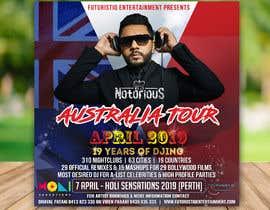 Nro 28 kilpailuun DJ Australia Tour Poster käyttäjältä mindlogicsmdu