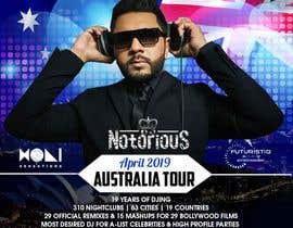 Nro 29 kilpailuun DJ Australia Tour Poster käyttäjältä maidang34