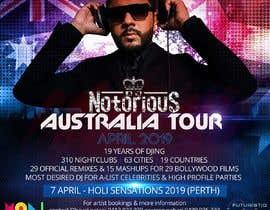 Nro 25 kilpailuun DJ Australia Tour Poster käyttäjältä satishandsurabhi