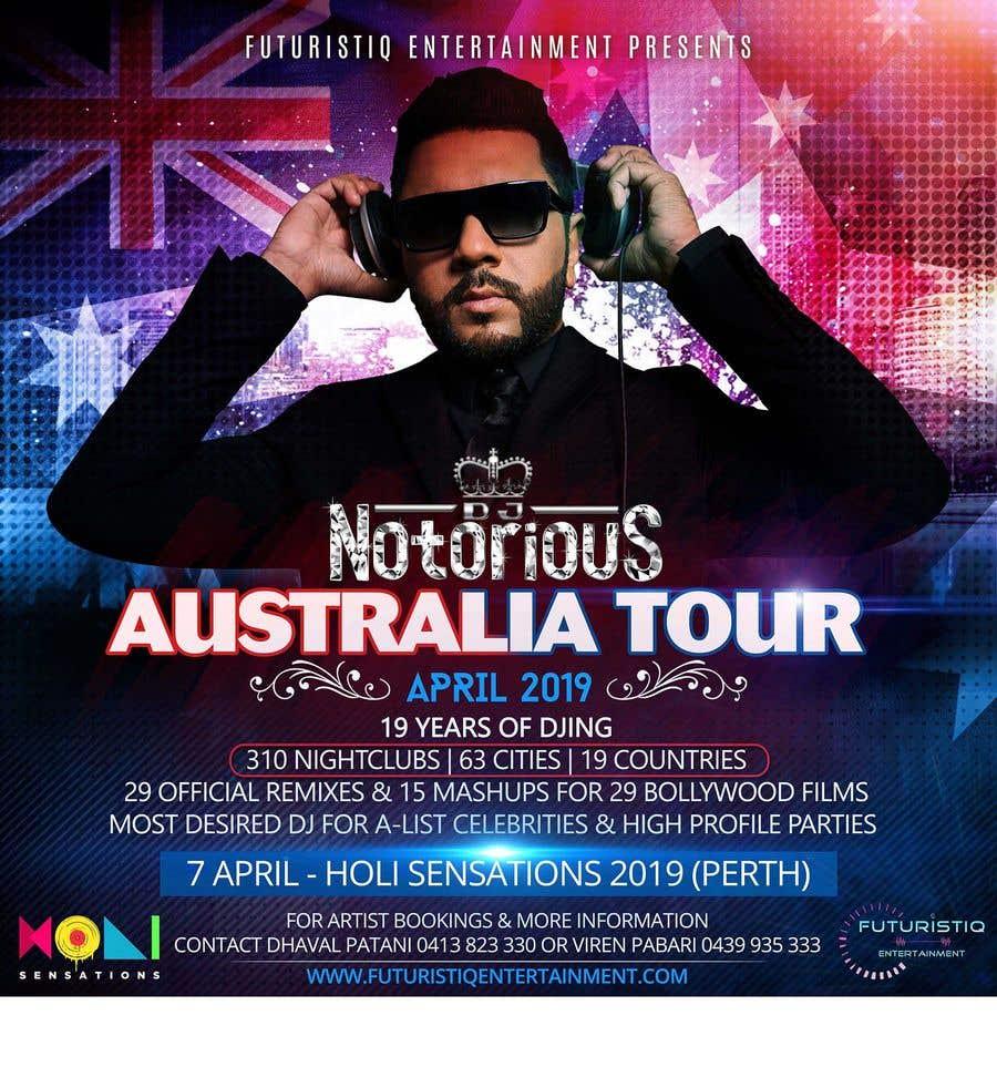 Contest Entry #30 for DJ Australia Tour Poster
