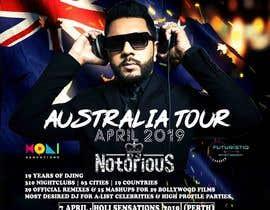 Nro 14 kilpailuun DJ Australia Tour Poster käyttäjältä toriqkhan