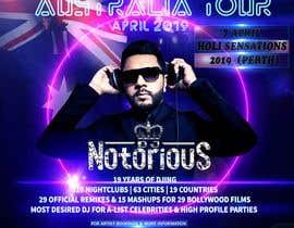 Nro 37 kilpailuun DJ Australia Tour Poster käyttäjältä toriqkhan