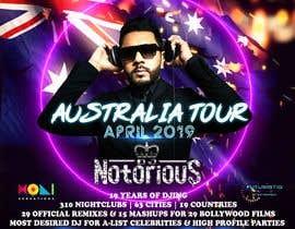 Nro 38 kilpailuun DJ Australia Tour Poster käyttäjältä toriqkhan
