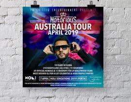 Nro 16 kilpailuun DJ Australia Tour Poster käyttäjältä b3ast61