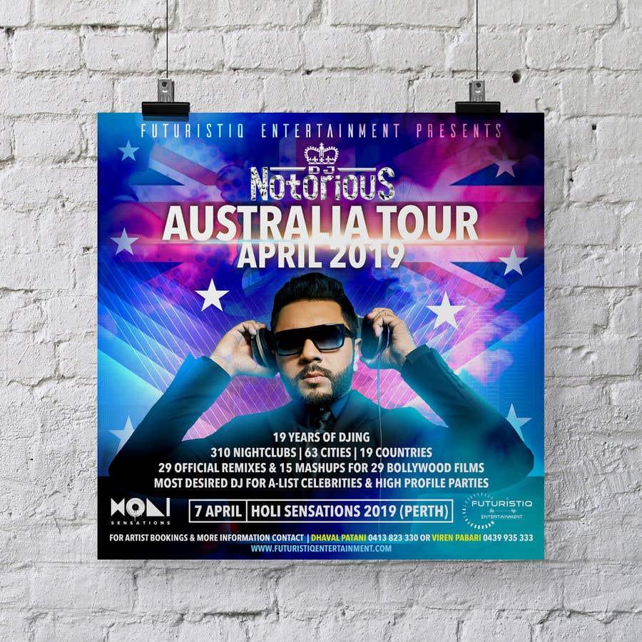 Contest Entry #27 for DJ Australia Tour Poster