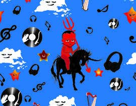 #20 for Create A Seamless Pattern of Baby Devils Riding On Evil Unicorns With Background Items Also by nobelium18