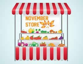 #10 for Design for an old shop selling nutrality and be named november store af albakry20014