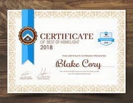#14 untuk Award Certificate - 10/03/2019 13:38 EDT oleh Hisam7959