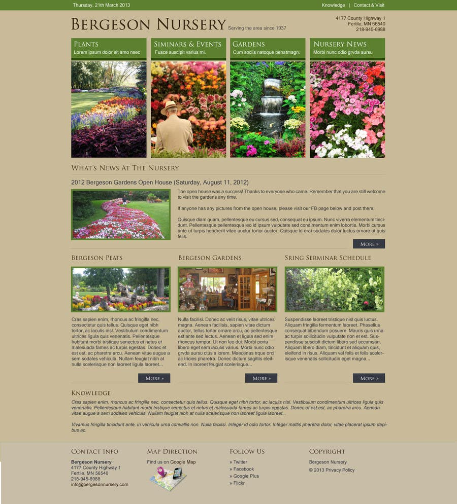 #3 for Design Inspiration for Bergeson Nursery Website by antonyngo