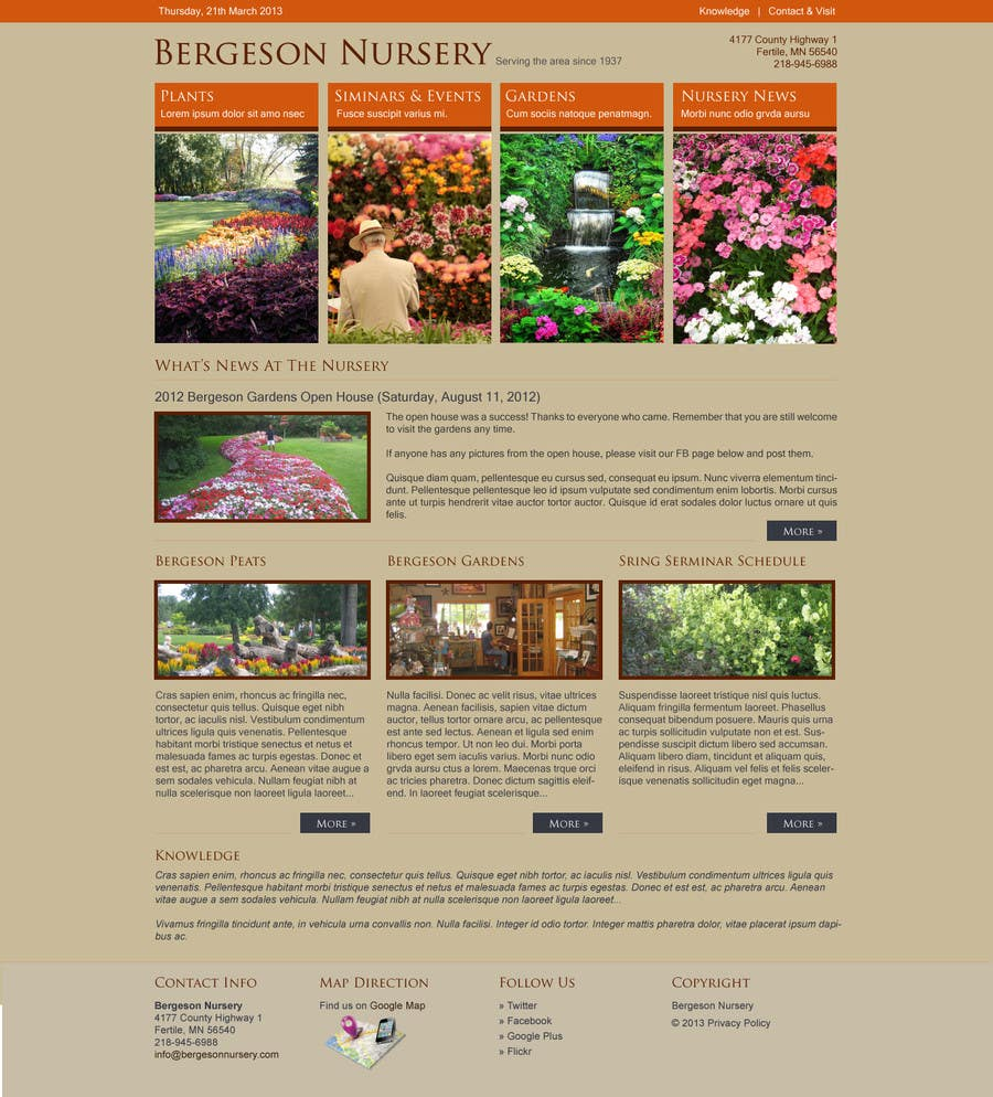 #4 for Design Inspiration for Bergeson Nursery Website by antonyngo