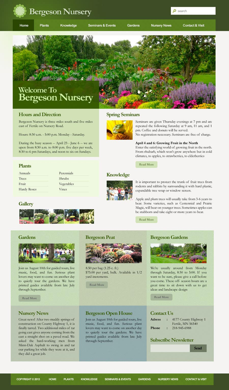 #20 for Design Inspiration for Bergeson Nursery Website by danangm
