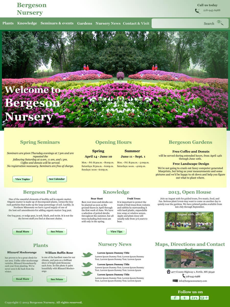 #16 for Design Inspiration for Bergeson Nursery Website by isalabasheva