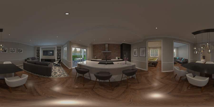 Penyertaan Peraduan #8 untuk Create 360* 3D renders for Interior Design (Real Estate)