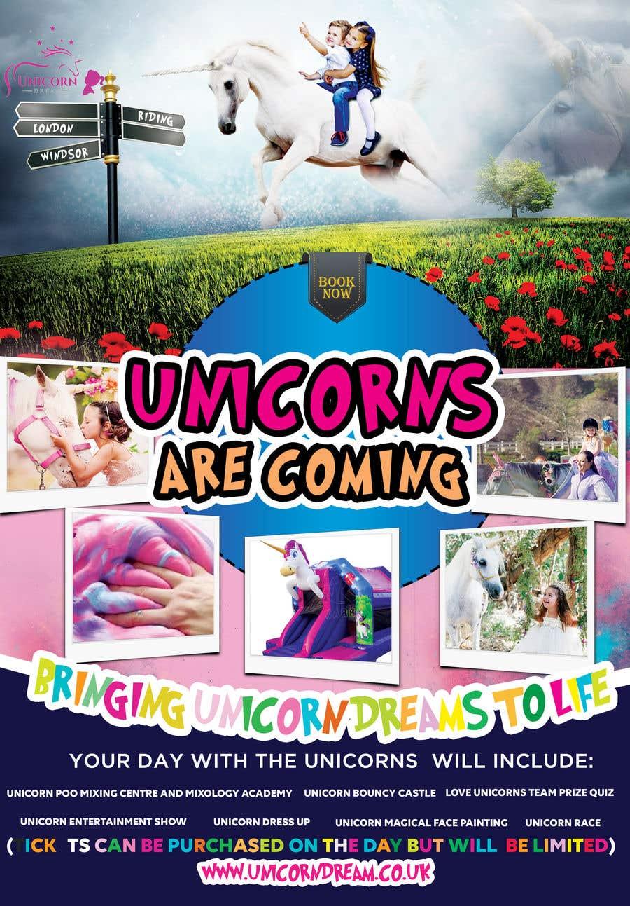 Proposition n°256 du concours Flyer Design Kinds Unicorn Event