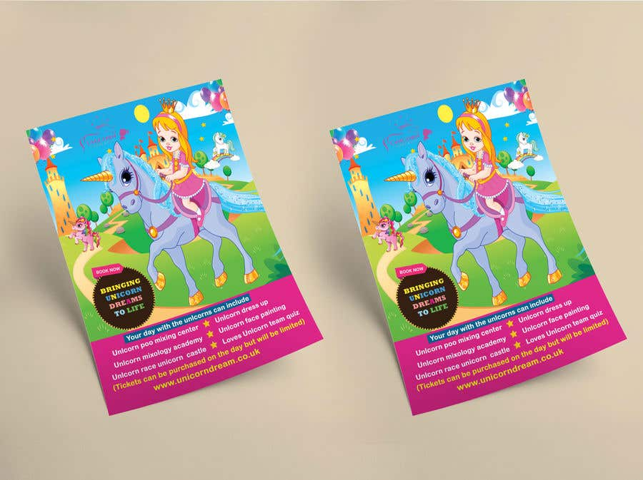 Proposition n°213 du concours Flyer Design Kinds Unicorn Event