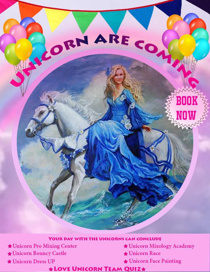 Proposition n°120 du concours Flyer Design Kinds Unicorn Event