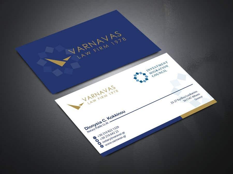 Penyertaan Peraduan #58 untuk Design new business cards for law firm