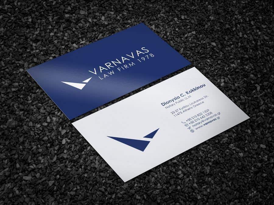Penyertaan Peraduan #454 untuk Design new business cards for law firm