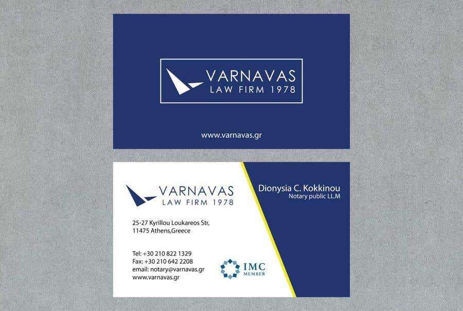 Penyertaan Peraduan #677 untuk Design new business cards for law firm