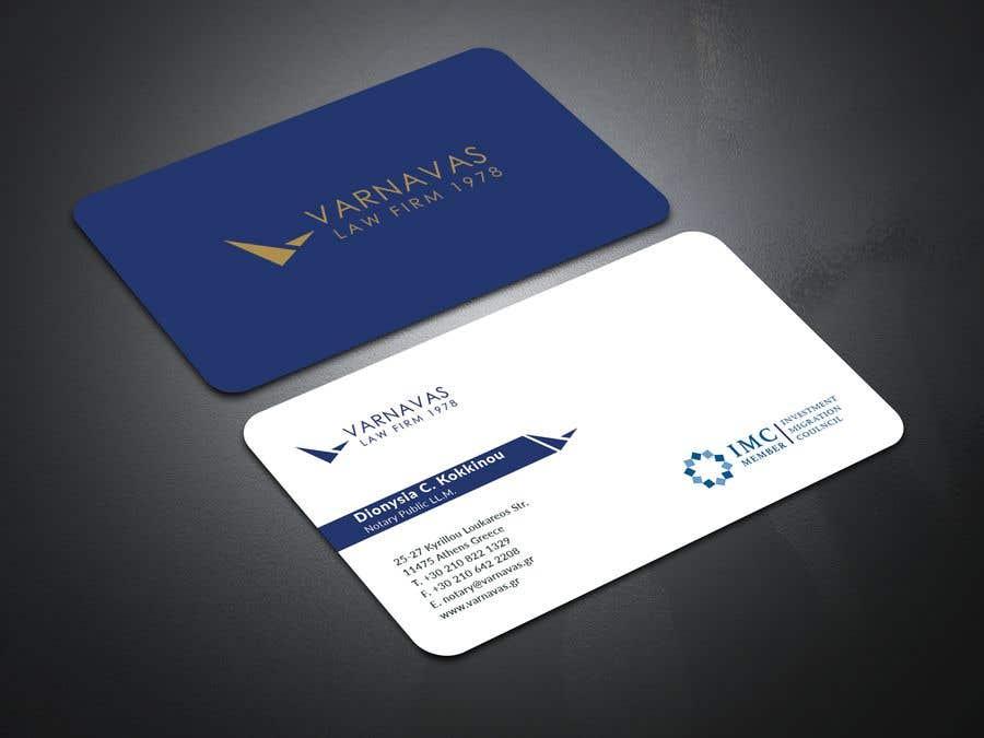 Penyertaan Peraduan #580 untuk Design new business cards for law firm