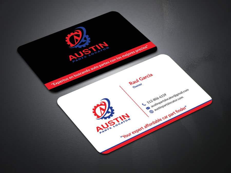 Konkurrenceindlæg #107 for Design Business Cards For Car Parts Company