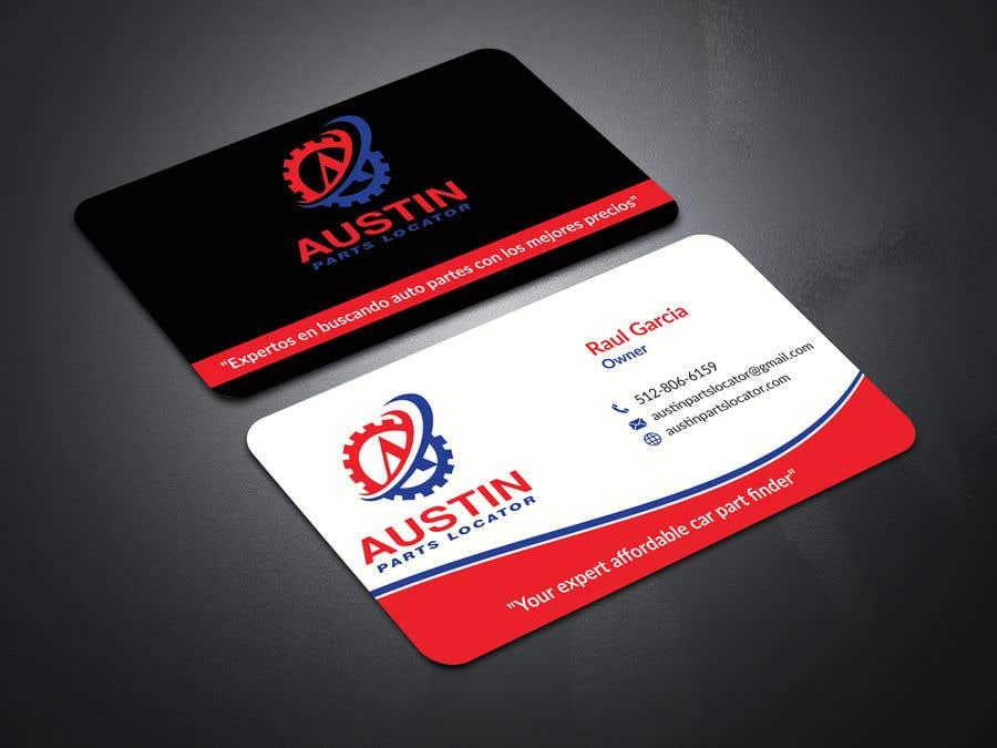 Proposition n°113 du concours Design Business Cards For Car Parts Company
