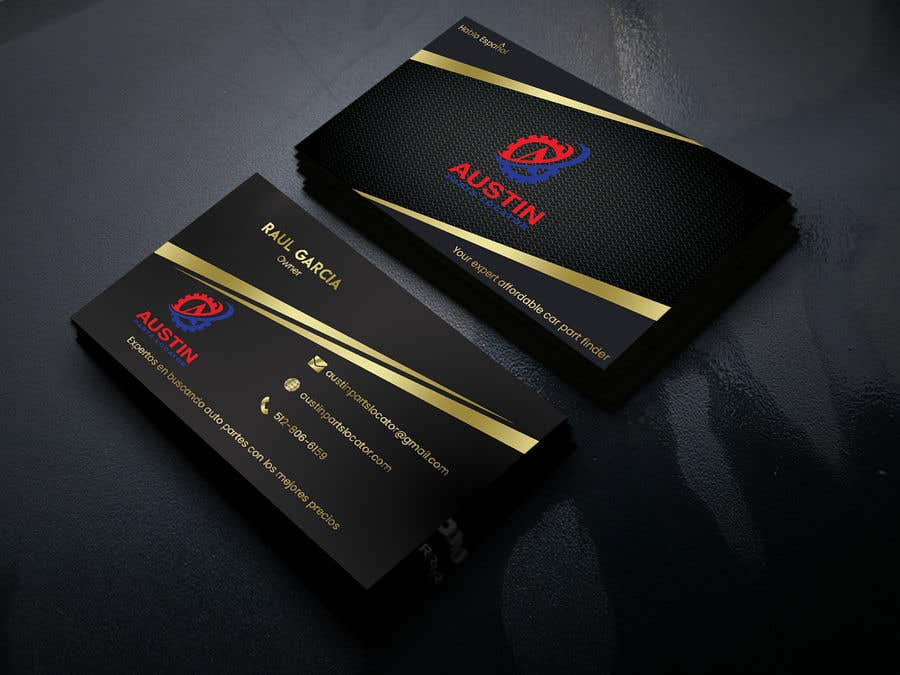Proposition n°338 du concours Design Business Cards For Car Parts Company