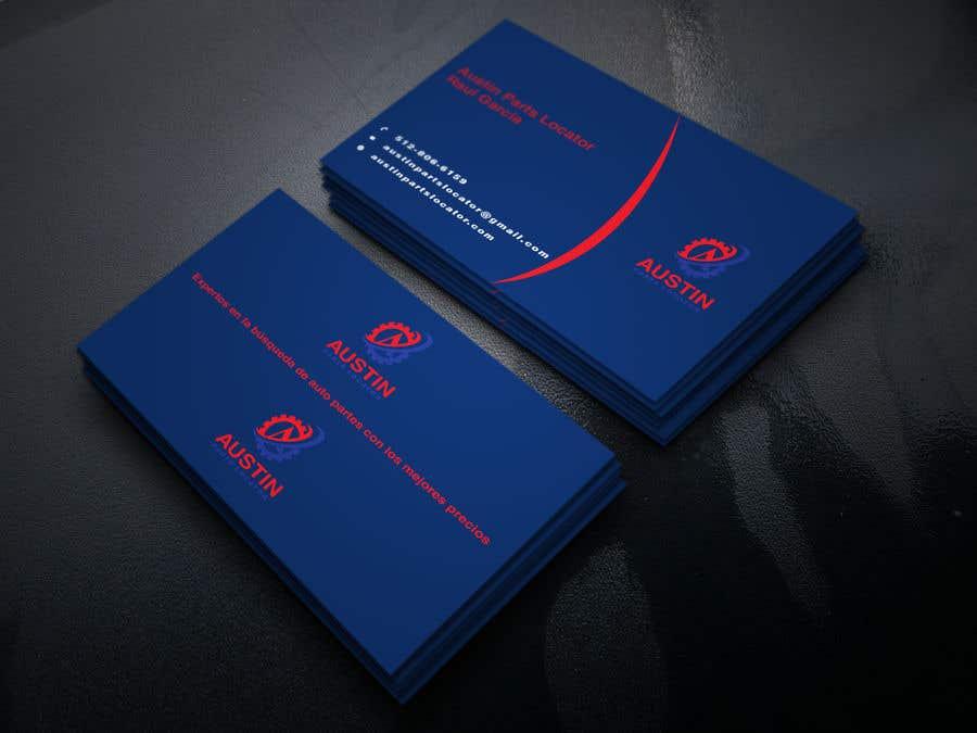 Proposition n°180 du concours Design Business Cards For Car Parts Company