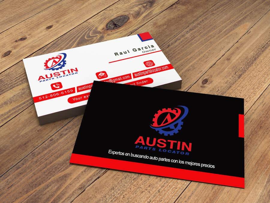 Proposition n°168 du concours Design Business Cards For Car Parts Company