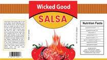 Graphic Design Kilpailutyö #1 kilpailuun wicked good salsa label (has to be editable)