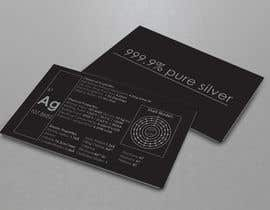 nº 4 pour Business Card with the scientic value of silver par nicolekalamer