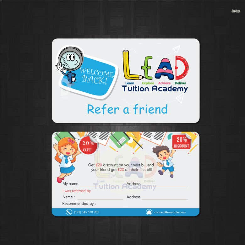 Contest Entry #22 for Design a Referral Voucher same size as business card