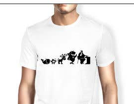 #10 para Illustration for T-Shirt: Evolution of a Poker Player (From Whale to Shark to Poker Player Using a Different Animals) de ZukuDesigns